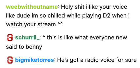 Holy shit i like your voice when i watch your stream  he's got a radio voice for sure